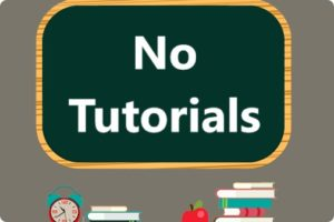 no tutorials board