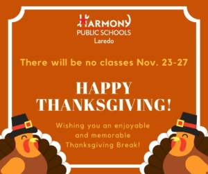 No classes for Thanksgiving week 2020